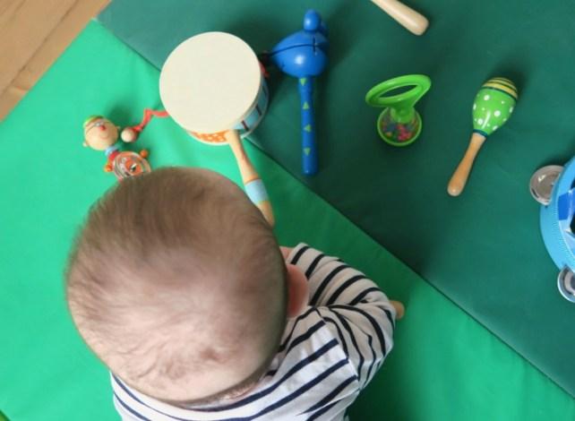 début de l'atelier musique avec mon bébé