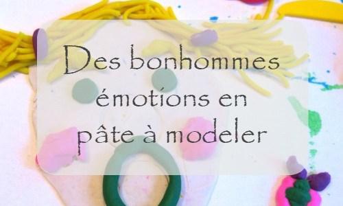 Nos bonhommes émotions en pâte à modeler