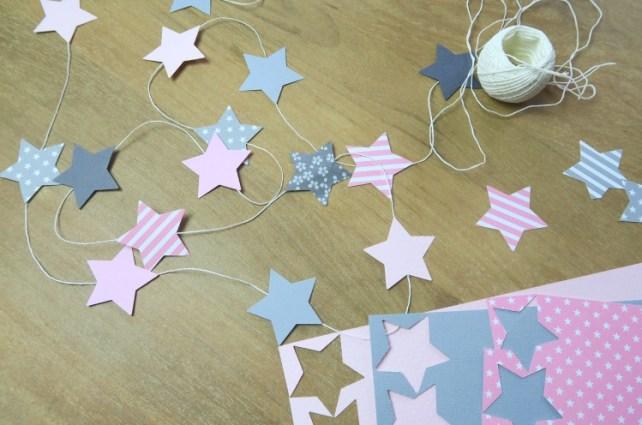 Guirlande étoile chambre bébé inspiration Pinterest
