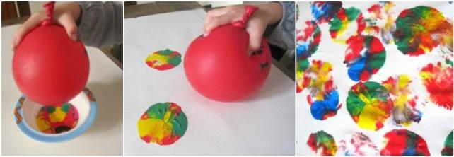Peinture avec ballon de baudruche