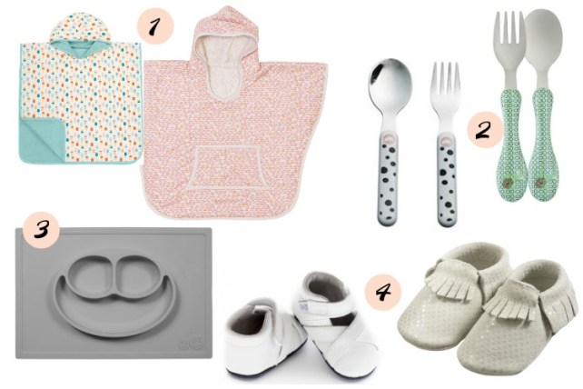 cadeaux utiles pour anniversaire 1 an wishlist utile poncho de bain couverts premières chaussures