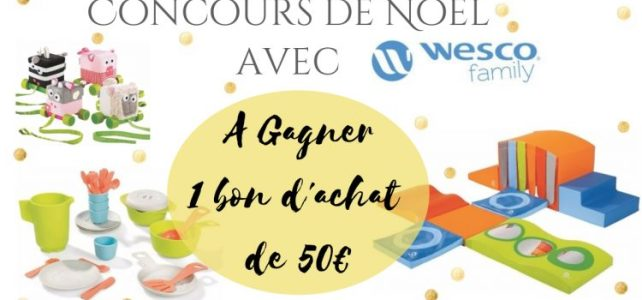 concours Wesco Noël How I play with my mome FB