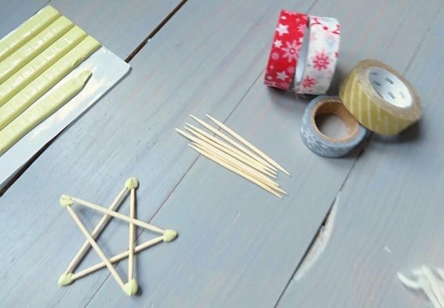 DIY Noël étoiles en cure dent