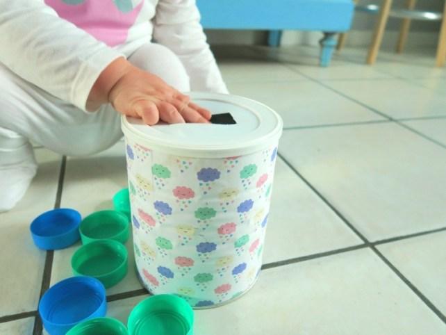 DIY bébé tirelire boite de lait bouchon à encastrer