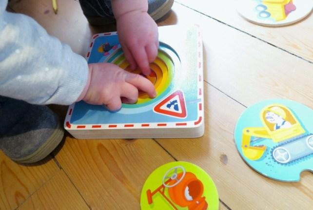 puzzle gigogne pour bebe Haba 18 mois