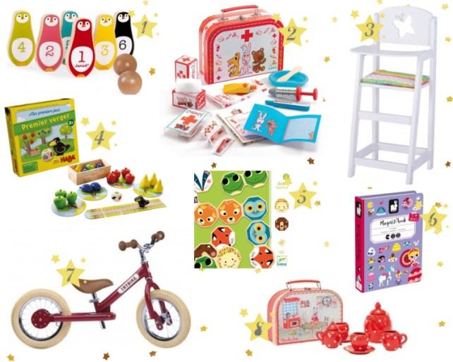 Sélection cadeaux 2-3 ans Noël Bonhomme de bois