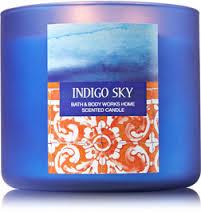 candle indigo sky