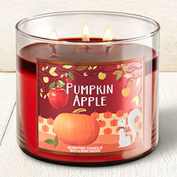 candle pumpkin apple