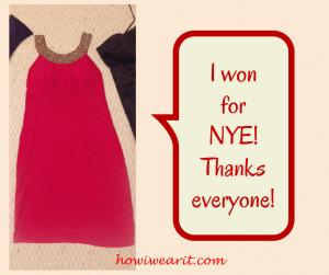 I Won For NYE!