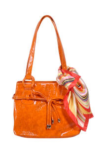 Handbag with scarf