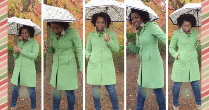 How I Wear It Blog LP Share Kelly Green Wool Coat