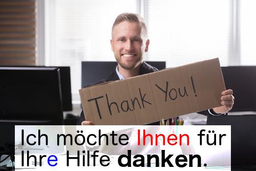 danken (to thank)
