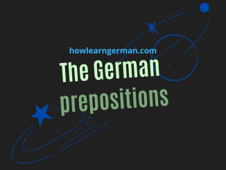 The German prepositions