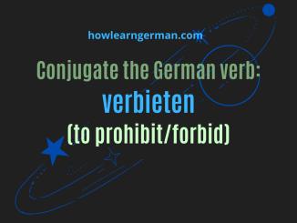 Conjugate the German verb verbieten (to prohibit/forbid)