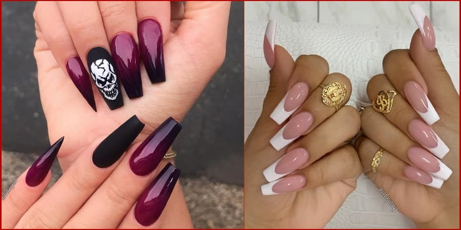 Coffin Nails Ideas 090819 - 107 Amazing Long Coffin Nails Ideas 2019