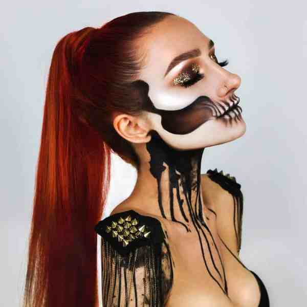 Halloween 1016201901 - 50+ Scary and Cool Halloween Makeup Ideas to Try 2019