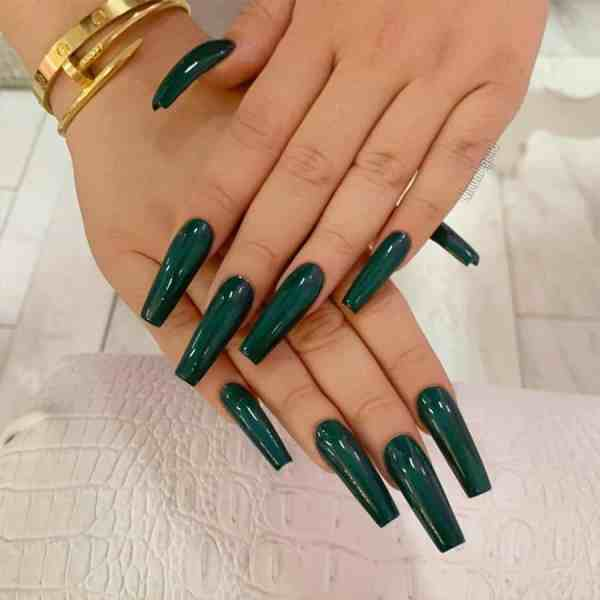 Winter Coffin Nail 2020011404 - 40+ Winter Coffin Nail Designs You Must Try