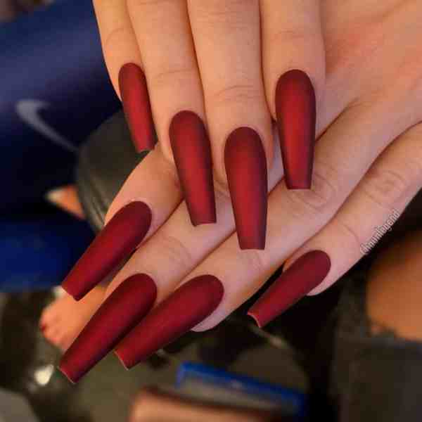 Winter Coffin Nail 2020011407 - 40+ Winter Coffin Nail Designs You Must Try
