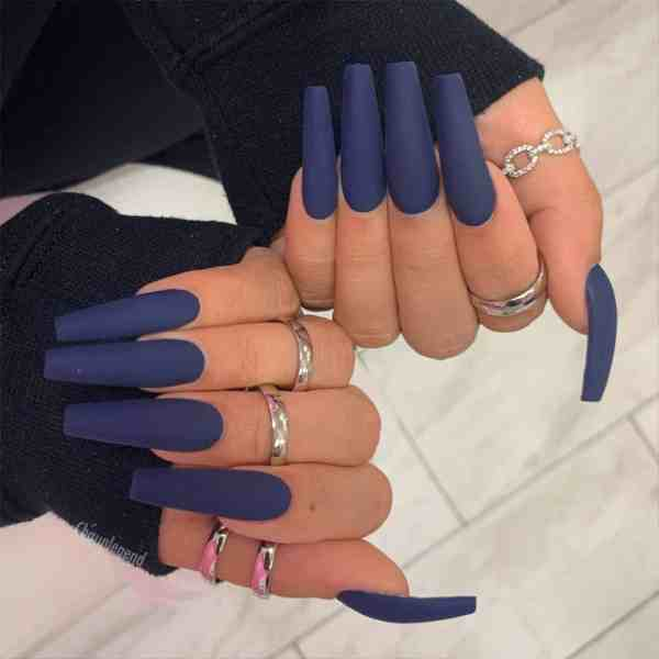 Winter Coffin Nail 2020011412 - 40+ Winter Coffin Nail Designs You Must Try