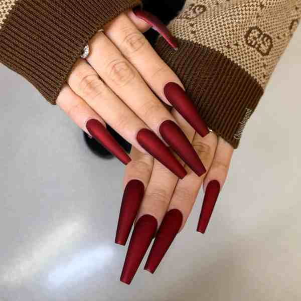 Winter Coffin Nail 2020011415 - 40+ Winter Coffin Nail Designs You Must Try