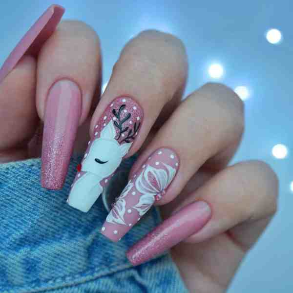 Winter Coffin Nail 2020011436 - 40+ Winter Coffin Nail Designs You Must Try
