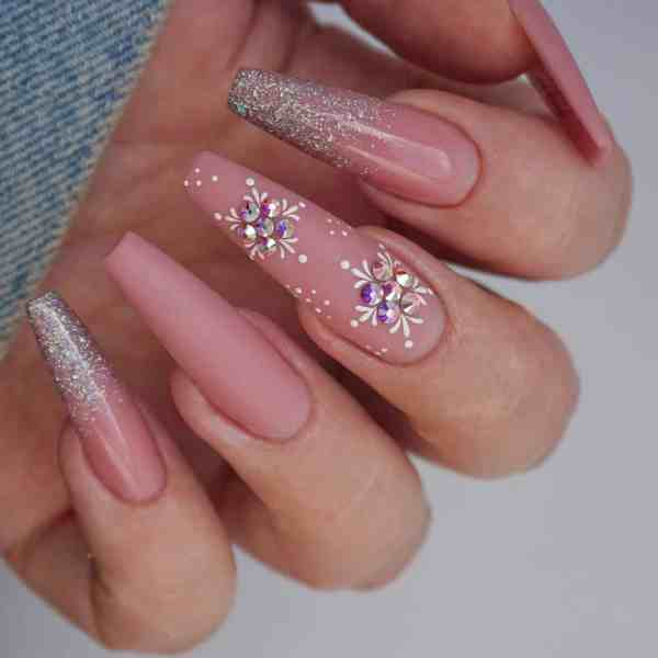 Winter Coffin Nail 2020011442 - 40+ Winter Coffin Nail Designs You Must Try