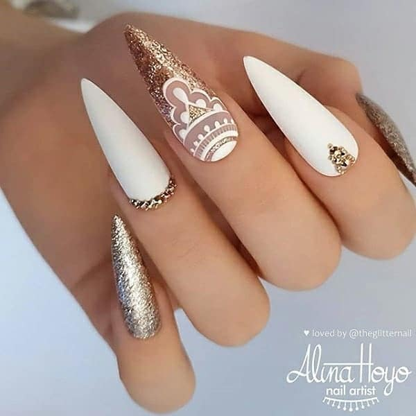 winter nail 2020020169 - 190+ Amazing Spring And Winter Nail Designs Ideas