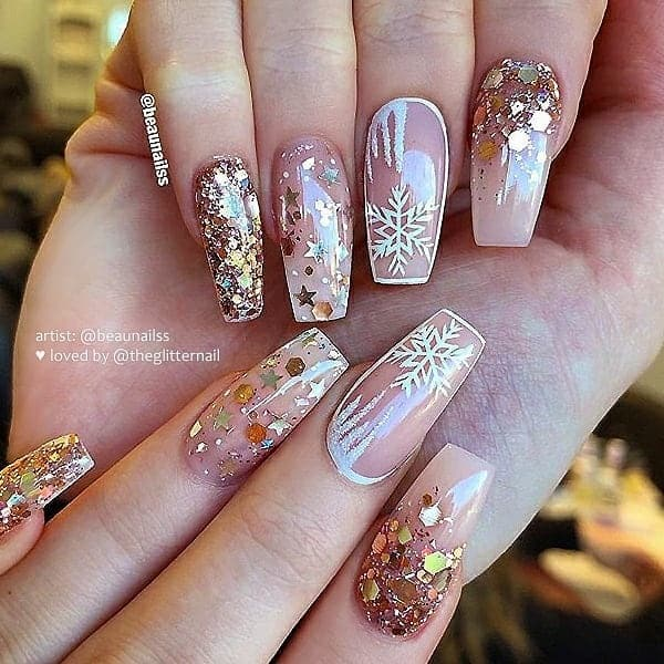 winter nail 2020020178 - 190+ Amazing Spring And Winter Nail Designs Ideas