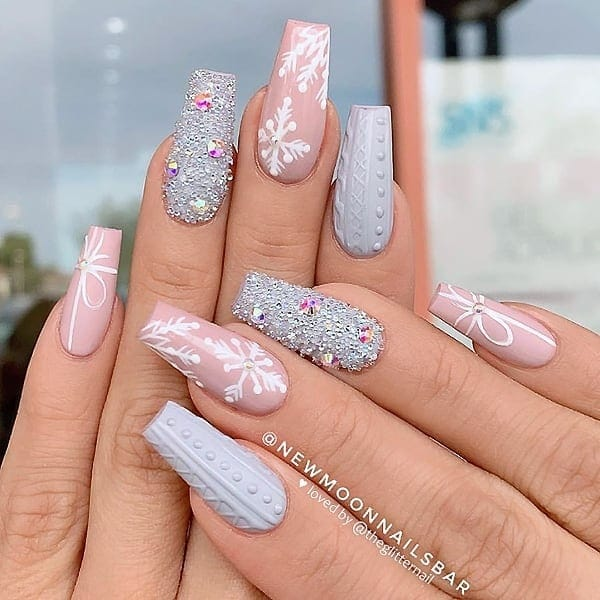 winter nail 2020020185 - 190+ Amazing Spring And Winter Nail Designs Ideas