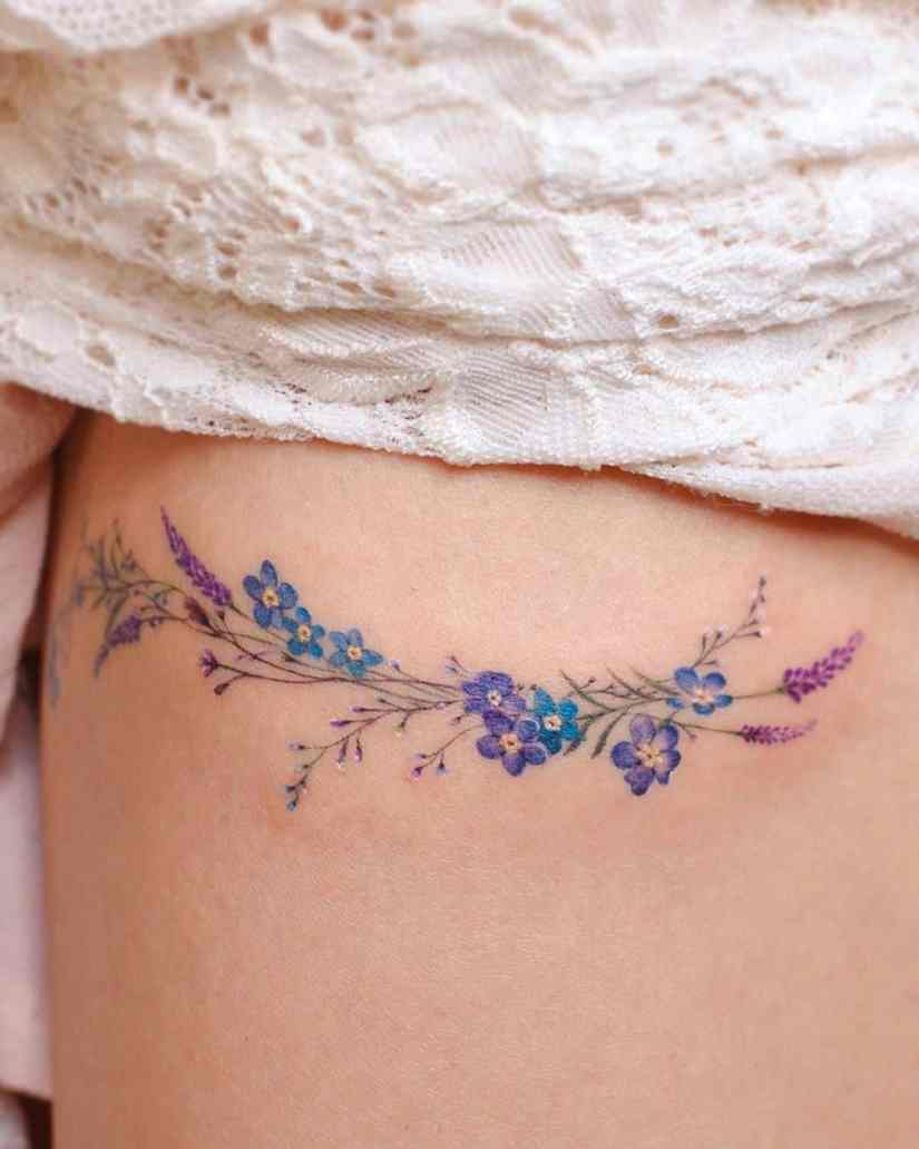 forget me not flower tattoo 2020062102 - Forget-Me-Not Flower Tattoo Meaning