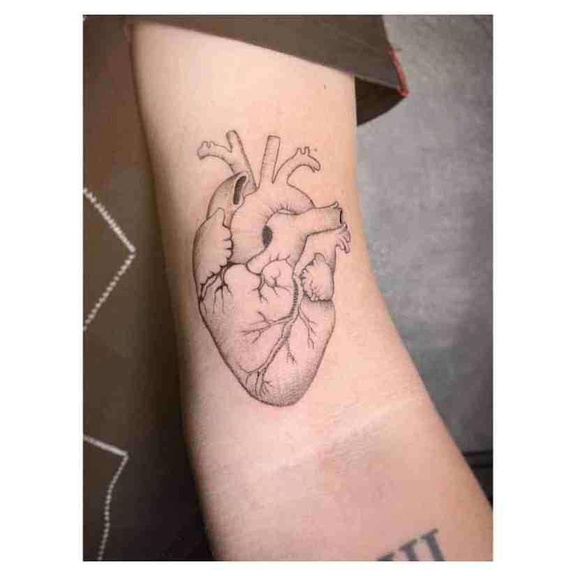 heart tattoo 2020061004 - Anatomy Heart Tattoo Designs You Will Heart Them