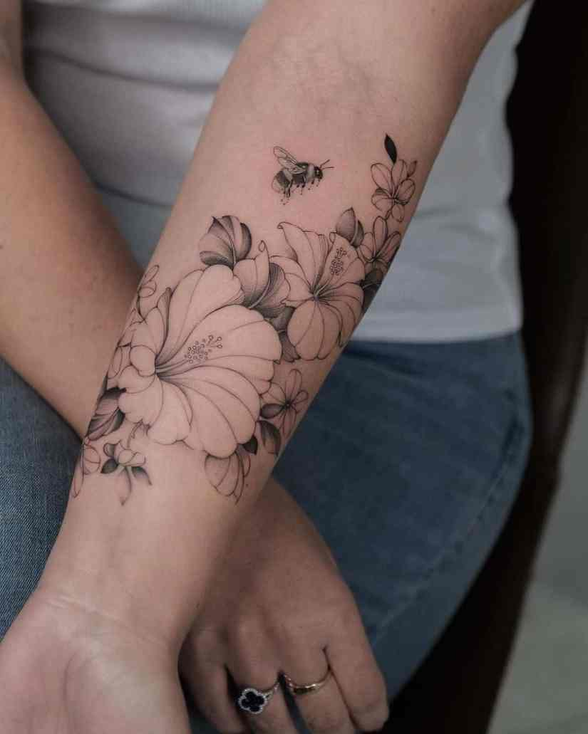 Hibiscus Tattoo 2020073005 - 20 Best Hibiscus Tattoo Designs to Inspire You