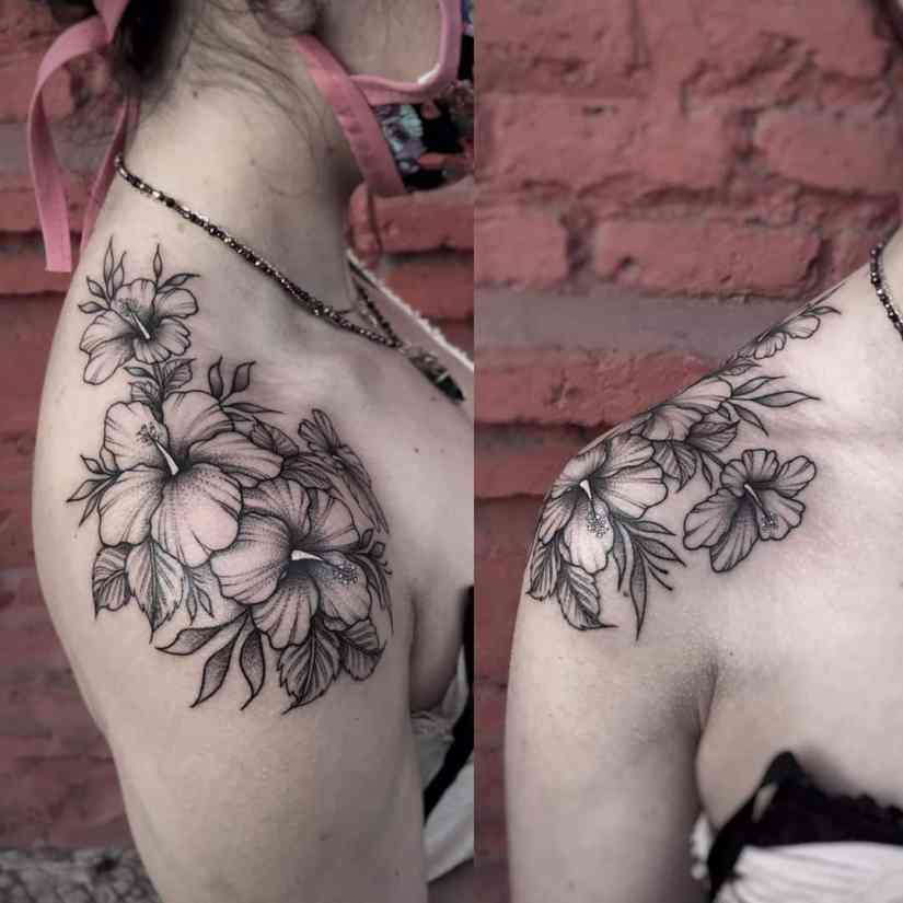 Hibiscus Tattoo 2020073013 - 20 Best Hibiscus Tattoo Designs to Inspire You