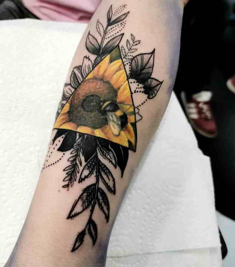 sunflower tattoo ideas 2020070405 - The Best Sunflower Tattoo Ideas and Meaning