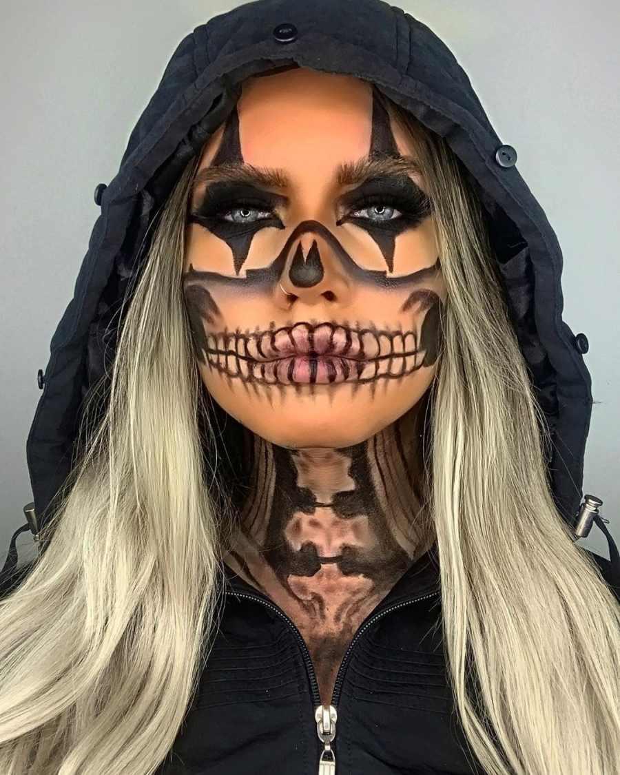 Halloween Skull Makeup 2020083006 - 10+ Scary Halloween Skull Makeup Ideas