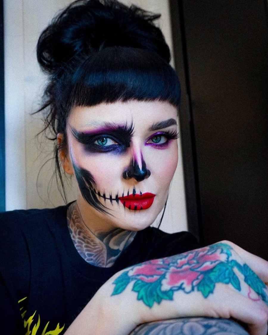Halloween Skull Makeup 2020083011 - 10+ Scary Halloween Skull Makeup Ideas