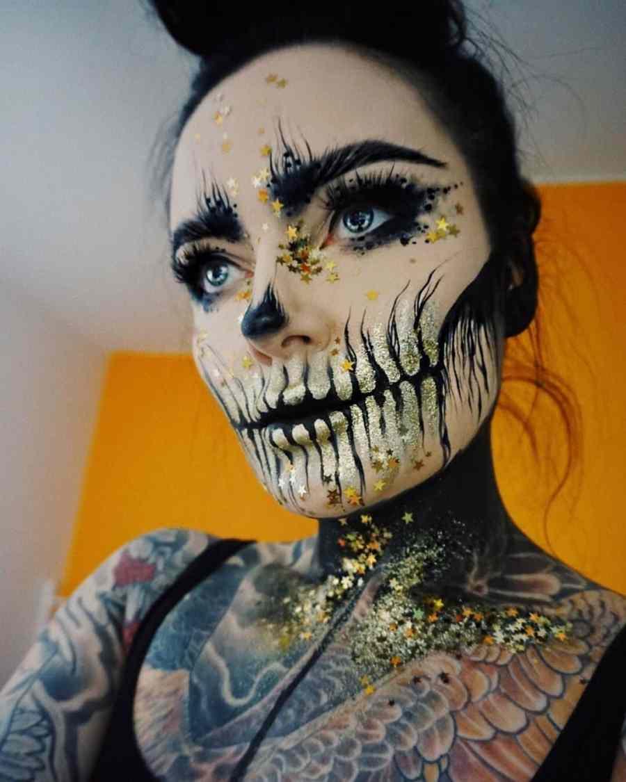 Halloween Skull Makeup 2020083012 - 10+ Scary Halloween Skull Makeup Ideas