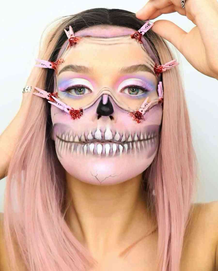 Halloween Skull Makeup 2020083013 - 10+ Scary Halloween Skull Makeup Ideas