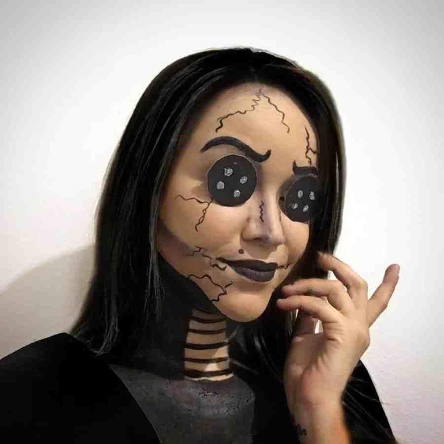 Coraline Makeup 2020090301 - Other Coraline Makeup for Halloween