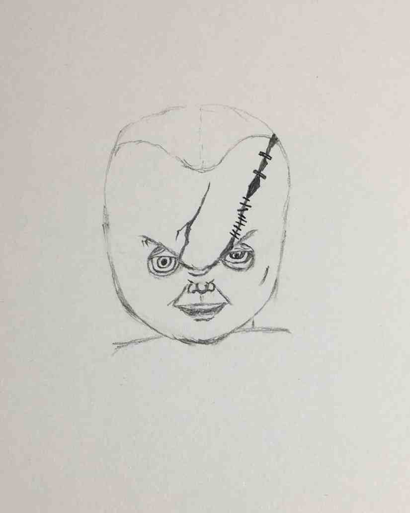 Draw Chucky 2020092910 - How to Draw CHUCKY (Child's Play)-Step by Step