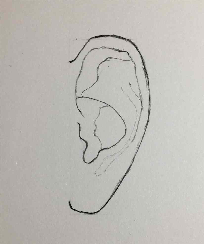 draw a ear 2020092008 - How to Easy Draw an Ear-Step by Step Tutorial
