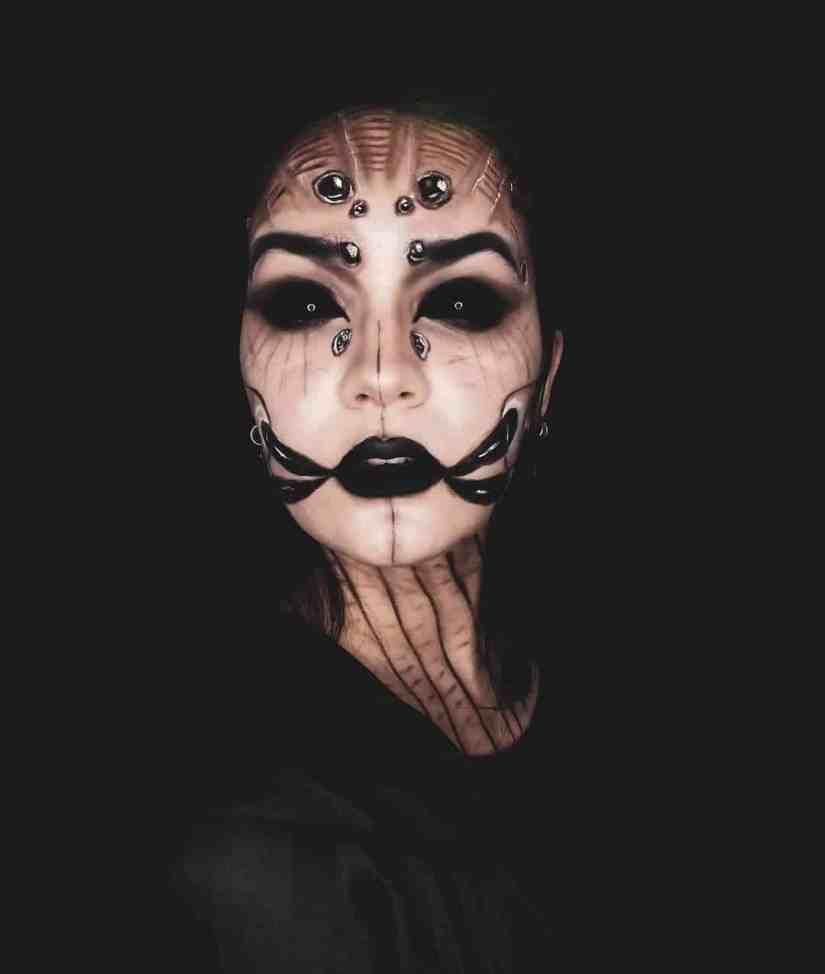 spider makeup 2020090712 - 20+ Creepy Spider Makeup for Halloween 2020