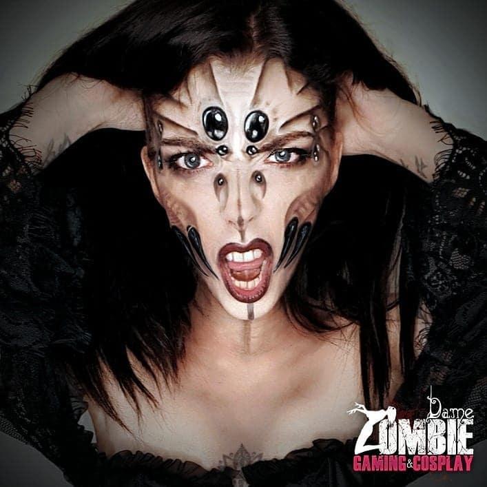 spider makeup 2020090714 - 20+ Creepy Spider Makeup for Halloween 2020