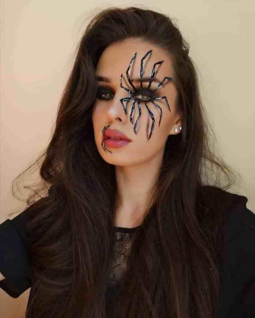 spider makeup 2020090716 - 20+ Creepy Spider Makeup for Halloween 2020
