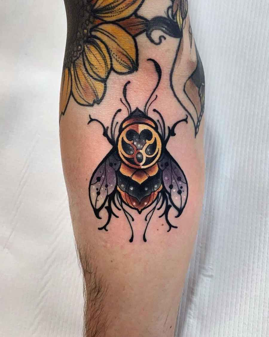 Bumblebee Tattoo 2020102604 - 20+ Attractive Bumblebee Tattoo Designs and Meanings