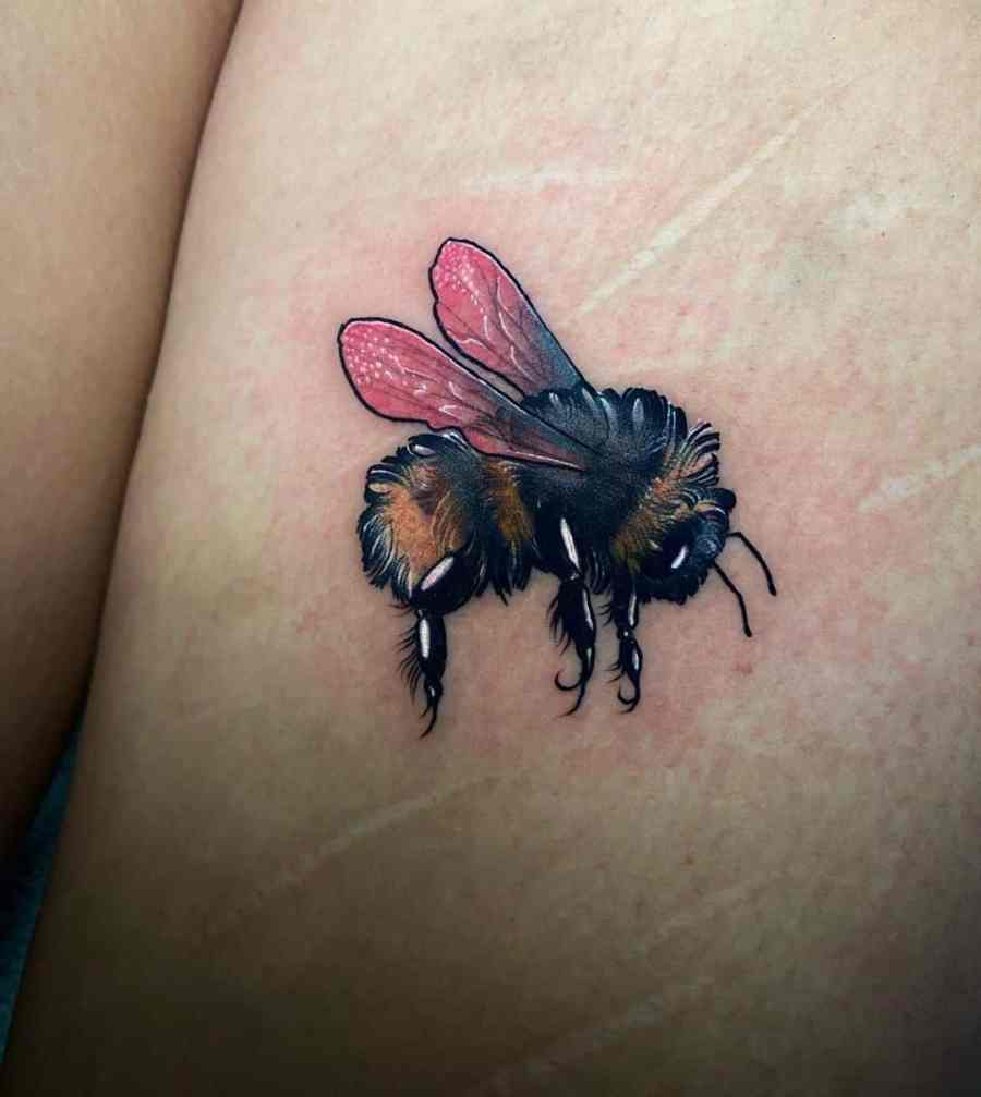 Bumblebee Tattoo 2020102606 - 20+ Attractive Bumblebee Tattoo Designs and Meanings