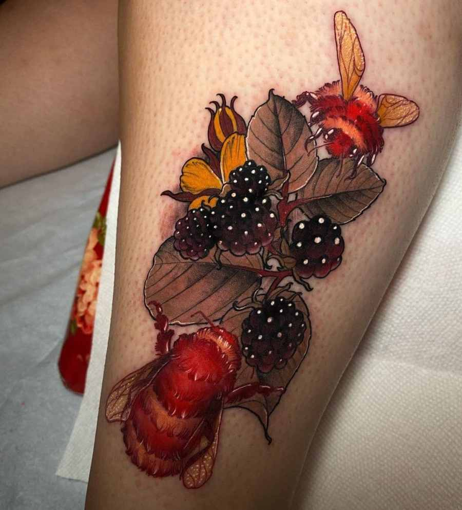 Bumblebee Tattoo 2020102607 - 20+ Attractive Bumblebee Tattoo Designs and Meanings