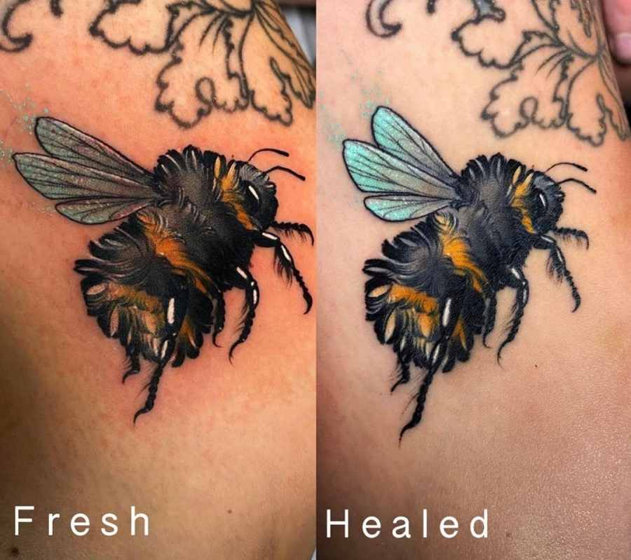 Bumblebee Tattoo 2020102608 - 20+ Attractive Bumblebee Tattoo Designs and Meanings