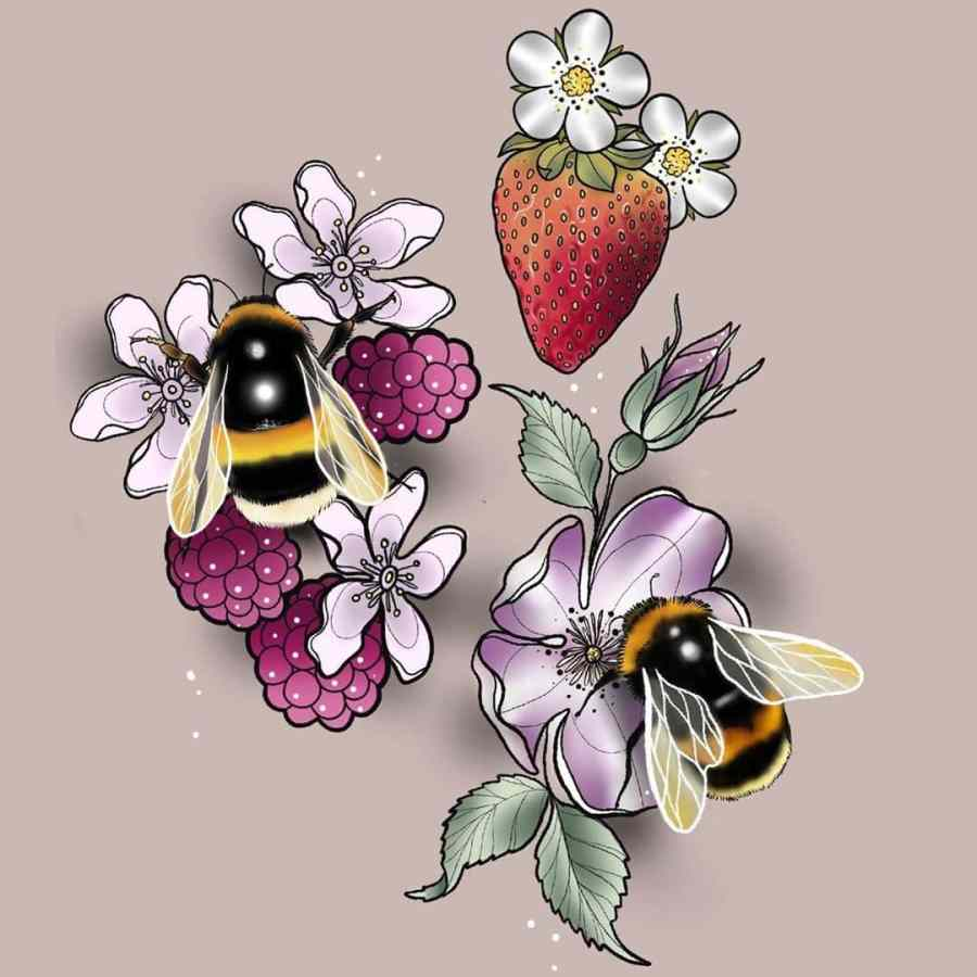 Bumblebee Tattoo 2020102613 - 20+ Attractive Bumblebee Tattoo Designs and Meanings