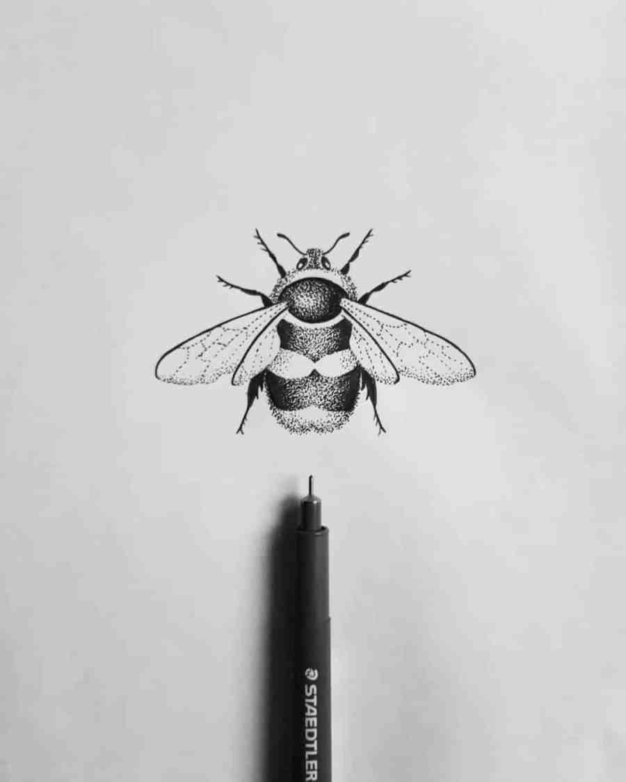 Bumblebee Tattoo 2020102621 - 20+ Attractive Bumblebee Tattoo Designs and Meanings